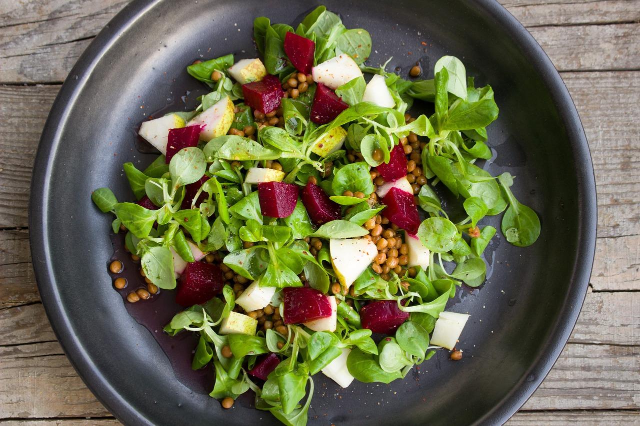 Veganská strava: Zeleninový salát