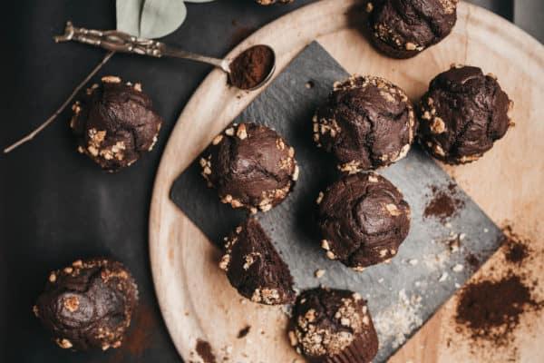 čokoláda, muffiny, recept, jídlo, dezert